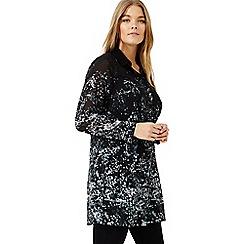 Studio 8 - Sizes 12-26 Black multi-coloured corabella blouse