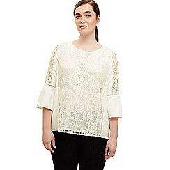 Studio 8 - Sizes 12 -26 Ivory anna lace blouse
