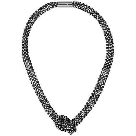 Phase Eight - Grey Beaded Knot Necklace