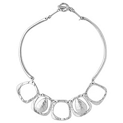 Phase Eight - Metallic Fine Square Necklace