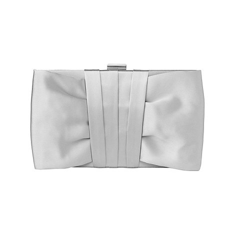 Phase Eight - Silver Yasmin Satin Clutch Bag