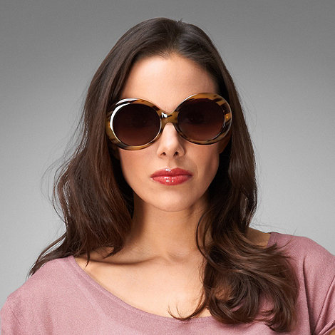 Phase Eight - Light Tortoiseshell Filter Cat. 3 Bailey Oval Sunglasses