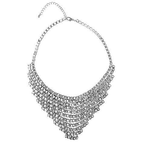Phase Eight - Silver Loop Metallic Necklace