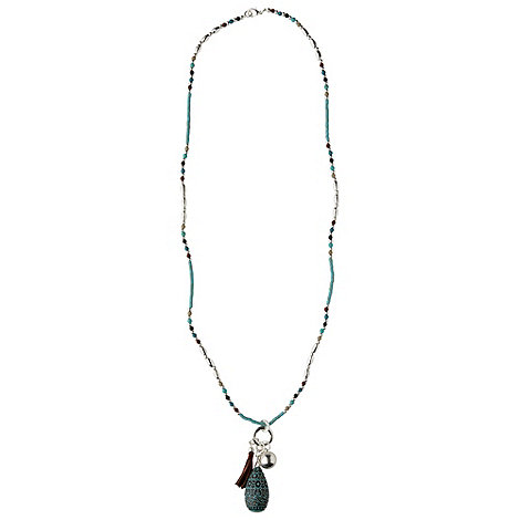 Phase Eight - Green Jade Ethnic Pendant Necklace