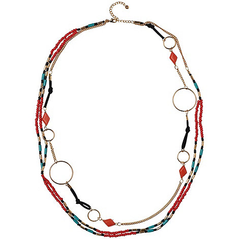 Phase Eight - Multi-coloured tribal chain necklace