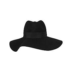 Phase Eight - Black wilhelmina trilby hat