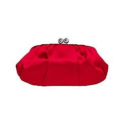 Phase Eight - Lipstick sara ball clasp satin clutch bag