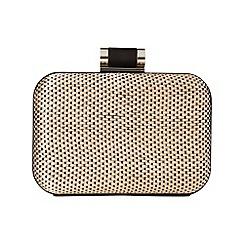Phase Eight - Black/Cream lucia weave box clutch bag