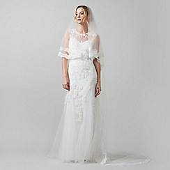 Phase Eight - Ivory esme lace trim veil