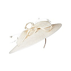 Phase Eight - Cream charlotte bow trim large disc hat