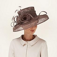 Phase Eight - Praline ashford flower brimmed hat