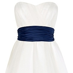 Phase Eight - Navy emilia satin sash