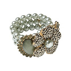 Phase Eight - Pewter gina flower cuff