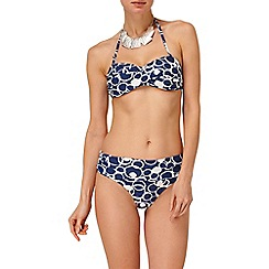 Phase Eight - Navy and Ivory spot print bikini bottoms