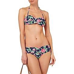 Phase Eight - Navy rose print bikini bottoms