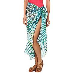 Phase Eight - White palm print sarong