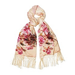 Phase Eight - Champagne printed silk wrap