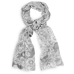 Phase Eight - Grey Watercolour Flower Scarf