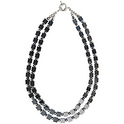Phase Eight - Pewter Monica Square Bead Necklace