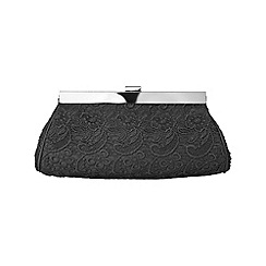 Phase Eight - Black ruby lace bag