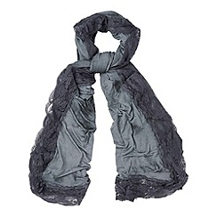 Phase Eight - Charcoal lexie lace edge scarf