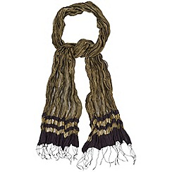 Phase Eight - Antique Gold freya crinkle scarf