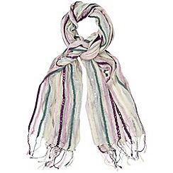 Phase Eight - Multi-coloured sequin stripe scarf