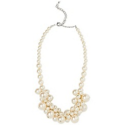 Phase Eight - Ivory Toni Cluster Pearl Necklace