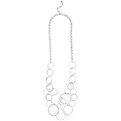 Phase Eight - Silver sofie rings necklace