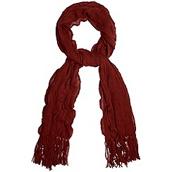 Phase Eight - Burgundy darcy frill scarf