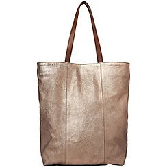 Phase Eight - Antique gold milly leather shopper bag