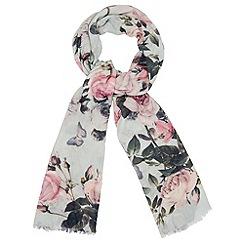 Phase Eight - Multi-coloured botanical rose scarf