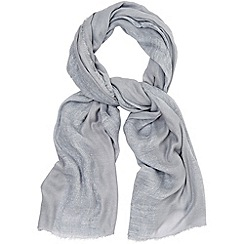 Phase Eight - Pale grey hazel scarf