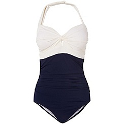 Phase Eight - Navy and ivory colourblock swimsuit