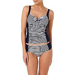 Phase Eight - Navy and white stripe tankini top