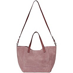 Phase Eight - Mauve harriet suede shoulder bag