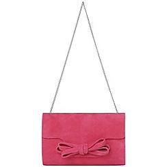 Phase Eight - Azalea elena suede bow clutch bag