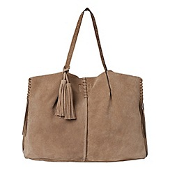 Phase Eight - Taupe ebony suede shoulder bag