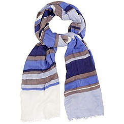 Phase Eight - Sky thea stripe scarf