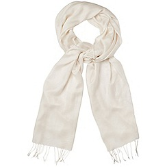 Phase Eight - Cream diamond weave pashmina