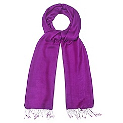 Phase Eight - Orchid diamond weave pashmina