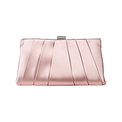Phase Eight - Confetti Pink eva soft pleat satin clutch bag
