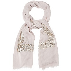 Phase Eight - Silver lizzie sequin scarf