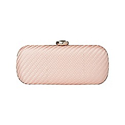 Phase Eight - Nude anita satin weave crystal clutch bag