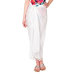 Phase Eight - White pom pom sarong