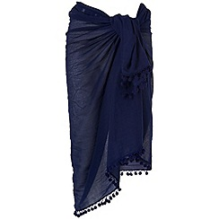 Phase Eight - Navy pom pom sarong