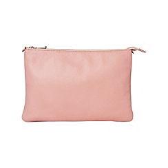 Phase Eight - Powder pink malory leather clutch bag