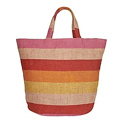 Phase Eight - Shona stripe jute beach bag