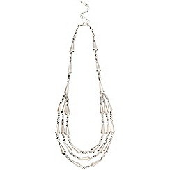 Phase Eight - Pewter jean necklace