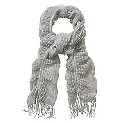 Phase Eight - Pale Grey sally swirl knitted scarf